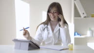 Young female doctor video