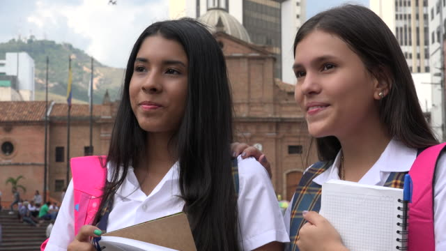 Young Female Students Talking video