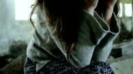Young Female Sufferning Headache Illness Psychology Concept HD video