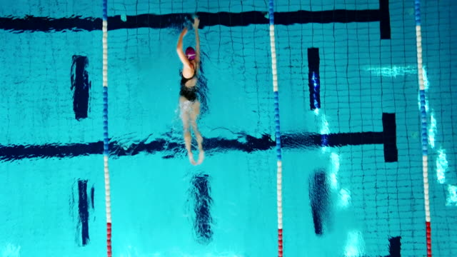 Young female swimmer video