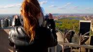 Young female tourist overlooking Central Park video