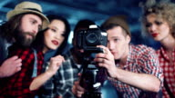 Young filmmakers behind camera video