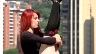 Young Flexible Redheaded Woman video