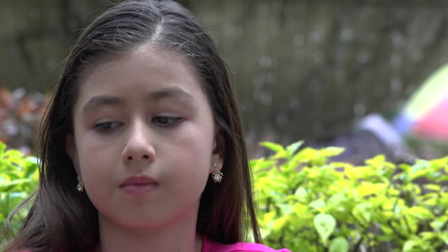 Young Girl Chewing Bubble Gum video