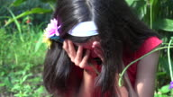 Young Girl Crying and Sad video