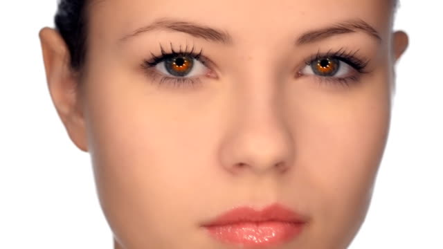 Young girl expressive eyes video