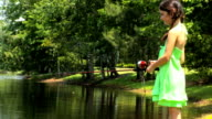 Young Girl Fishing video