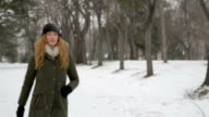 Young girl in park video