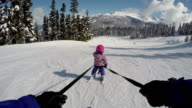 Young girl learning to ski video