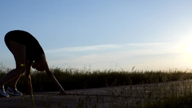 A Young Girl Running In the Morning video