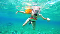 Young girl scuba diver video