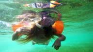 Young girl scuba diver video
