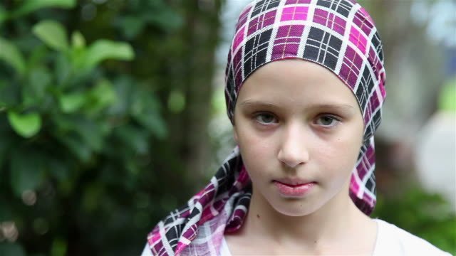 Young Girl Smiling Cancer Survivor video