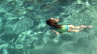 Young Girl Swimming Underwater, Pt. 1 of 4 video