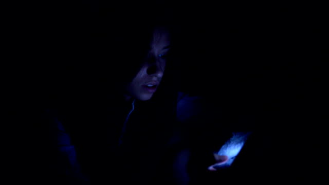 Young Girl Using Mobile Phone video