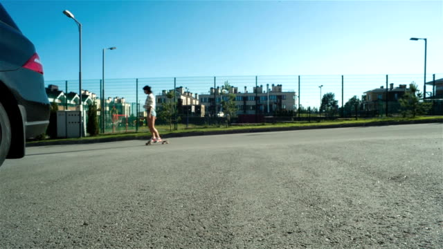 Young Girl With A Skateboard video