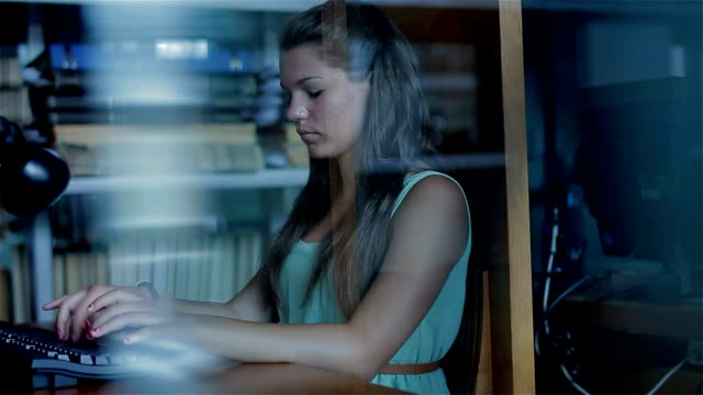Young girl with computer video