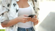 Young girl with phone video