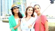 Young girls take selfie in Dubai video