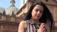 Young Hispanic Woman Praying video