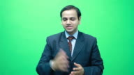 Young Indian Businessman Manager interacting talking with Audience video