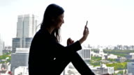 Young Japanese Businesswoman Video Call video