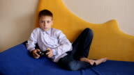 Young Kid Playing Microsoft Xbox 360 video