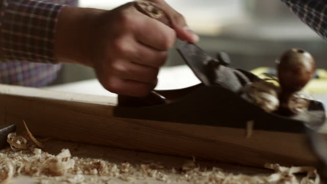 Young male carpenter video
