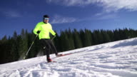 Young male cross country skier video