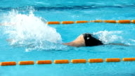 HD: Young Male Swimmer at Butterfly stroke video