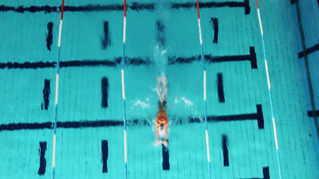 Young male swimmer video