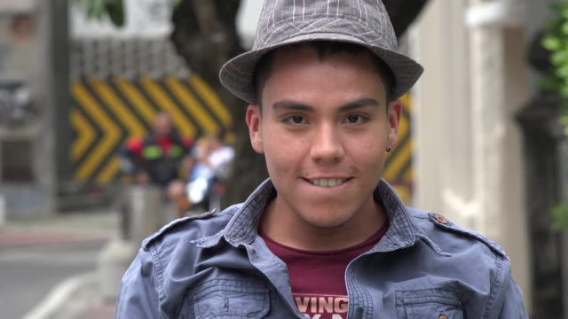 Young Male Walking in Urban Area video
