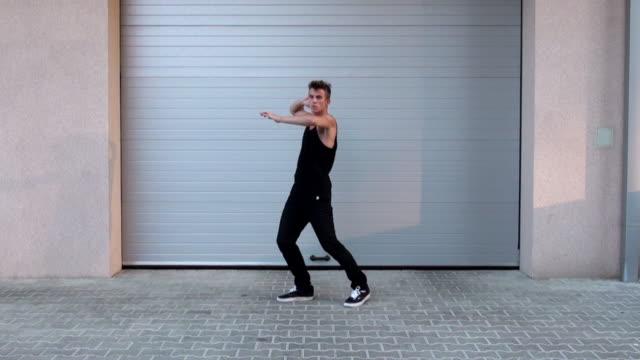 Young man dancing video