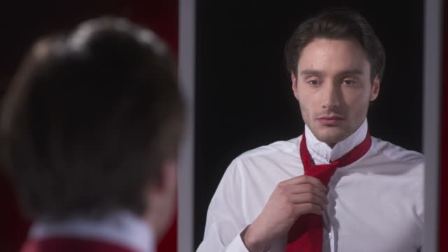 HD: Young Man Dressing Up For A Date video