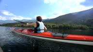 Young Man Kayaking video