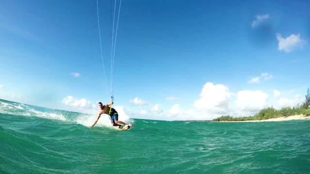 Young Man Kitesurfing video