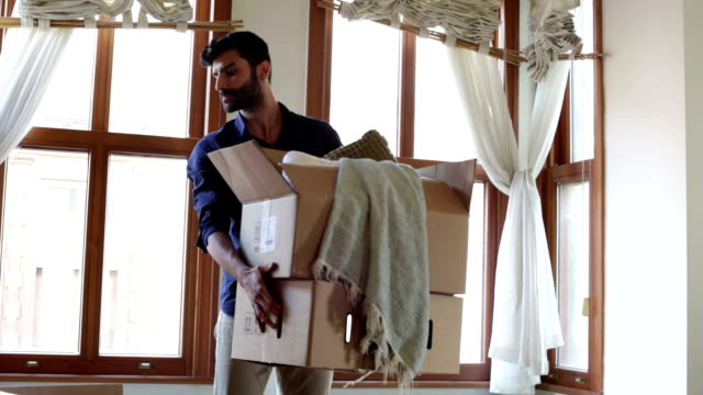 Young Man Moving House video