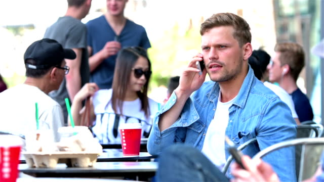 Young man on the phone video