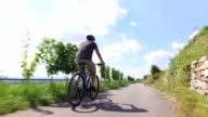 Young man riding his mountain bike video