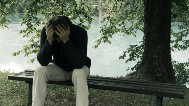 HD: Young Man Suffering From Emotional Stress video