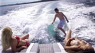 Surfing Behind Boat video
