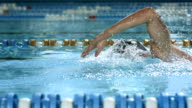 HD SLOW MOTION: Young Man Swimming Front Crawl video