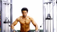 Young Men Exercising in the Gym video