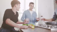 Young men in the kitchen video