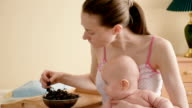 young mother with her baby son video