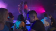 HD DOLLY: Young People Dancing In The Night Club video
