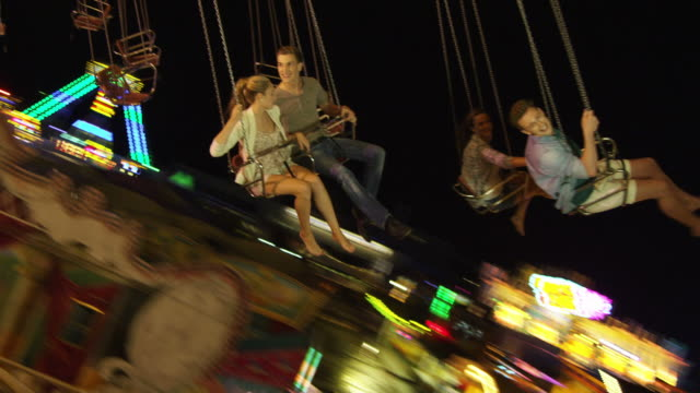 Young people on Chairoplane Collection video