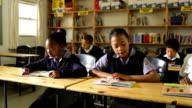 Young school children reading video