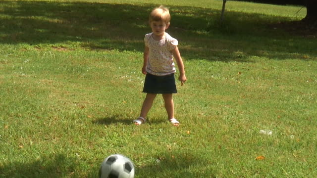 (HD1080i) Young Soccer Star. Shot handheld 'news' style video