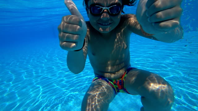 Young swimmer underwater video